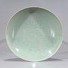 17th Century Chinese Celadon Dish