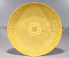 Large Chinese Yellow Ground Porcelain Charger