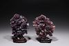 Two Chinese Carved Fluorite Covered Vases