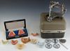 Dental Crown Maker, together with eight tooth development models, two in a leatherette case. (9 Items)