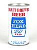 """1969 Fox Head """"400"""" Beer 12oz Tab Top T232-28"""