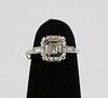 Estate Three Carat Asscher Cut Diamond Ring