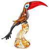 Murano Toucan Parrot Bird Art Glass Sculpture