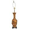 Regency Style Pierced Bronze Table Lamp