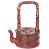Large Chinese Hardstone Teapot
