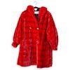 Revillon Red Sheared Short Mink Coat