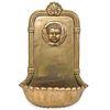 Vintage Brass Figural Wall Pocket