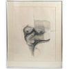 Agustin Fernandez (1928 - 2006) Erotic Graphite on Paper
