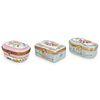 (3 Pc) French Porcelain Trinket Boxes