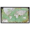 1778 Globe Map Wall Art Mirror