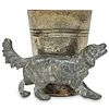 """""""WMF"""" Silver Plated Hunting Dog Match Holder"""