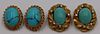 JEWELRY. 18kt and 14kt Gold and Turquoise Jewelry.