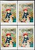 """Grp: 4 After Pierre-Auguste Renoir """"Sur la Terrasse"""" Lithographs"""
