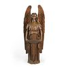 19th c. Gothic Revival Carved Wood Altar Angel