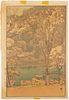 """Hiroshi Yoshida """"Arashiyama"""" Woodblock Print"""