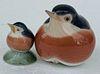 Royal Copenhagen Porcelain Birds #2266 & #2238