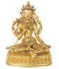 Magnificent Gilt Bronze Buddha of Vajrasattva