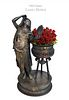 Orientalist Jardiniere Sculpture, Louis Hottot, 19th C.