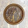 Japanese Meiji Period Mixed Metal Decorative Wall Plate
