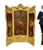 French 19th C. Louis XV 3 Panel Screen
