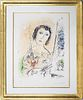 "Marc Chagall ""Self Portrait (M. 709)"" Lithograph"
