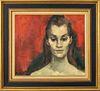 """Jan De Ruth """"Portrait of a Woman"""" Oil on Canvas"""