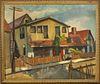 """Leon Kroll """"Street Scene"""" Oil on Canvas Board"""