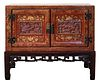 Chinoiserie Red Lacquer Cabinet On Stand