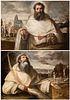 "ANTONIO DEL CASTILLO Y SAAVEDRA (Cordoba, 1616 - 1668).  ""San Pedro Armengol"" and ""San Serapio"".  Oil on canvas (x2)."