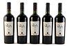 Five Casa Silva Quinta Generación bottles, vintage 2003. Category: red wine. DO. Colchagua Valley, San Fernando (Chile). Level: A / B. 750 ml.
