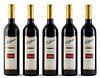Five Elderton bottles, vintage 2000. Elderton Wines. Category: Syrah red wine. Nurioopta, Barossa Valley (Australia). Level: A. 750 ml.