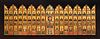 """Russian School, Old Believers' Workshops, ca.1800. """"Portable five-tiered iconostasis"""". Tempera, gold leaf on panel."""