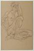 Paul Cadmus - Seated Male Nude Original Drawing