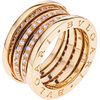 ANILLO CON DIAMANTES EN ORO AMARILLO DE 18K DE LA FIRMA BVLGARI, COLECCIÓN B.ZERO1  Peso: 13.9 g. Talla: 6 ¾ | RING WITH DIAMONDS IN 18K YELLOW GOLD,