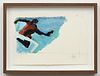 """Reggie Burrows Hodges, """"Leaping into Blackness: Sole Perspective (Study)"""", 2021"""