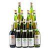 Lote de Vino Tinto y Blanco. Blanc de Blancs. Bordeaux. Monopole. Total de Piezas: 11.