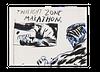 "Raymond Pettibon, ""No Title (Twilight zone marathon)"", 2020"