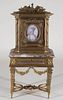 Miniature Louis XVI Style Marble & Bronze Cabinet