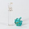 Turquoise Snuff Bottle and Rock Crystal Chop