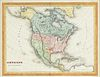 """A REPUBLIC OF TEXAS MAP, """"Amérique Septentrionale,"""" EARLY 20TH CENTURY,"""
