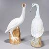 Pair Chinese Porcelain Birds