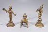 Group of Three Indian Bronze Statues