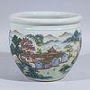 Chinese Enameled Porcelain Famille Rose Jardiniere
