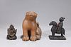 Group of Three Japanese Wood Carvings