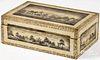 New England painted pine dresser box, 19th c.