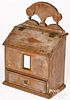Good New England painted pine wall box