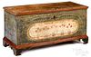 Pennsylvania painted poplar dower chest