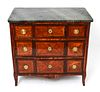 French Empire Style Marble Top Inlay Commode