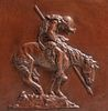 """James Earle Fraser """"End of the Trail"""" Plaque 1915"""