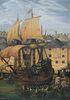 """Gustave Alaux, """"Depart des Pilgrim Fathers"""""""